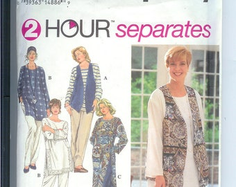Womens TUNIC Pants Vest Simplicity 2 Hour  Sewing Pattern 8783  Size FF  18W-24W