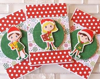 Little Elf Helpers Mini Note Card Set