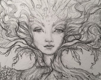 Fairy Queen  Original drawing by Renae Taylor
