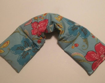 Heat Pack or Cold Therapy Wrap/ Neck Shoulder/ Flax Seed, Scented or Unscented -paradise birds