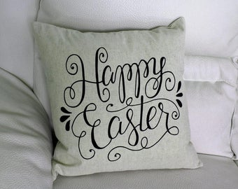 Happy Easter Pillow COVER, Easter Pillow, Sofa Pillow