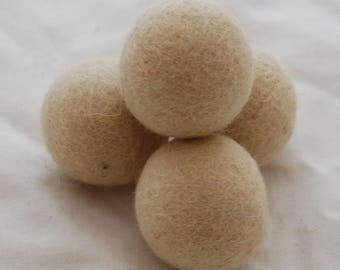 4cm Felt Balls - 5 Count - Champagne