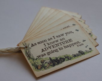 Classic Winnie The Pooh Gift Tag Set of 8