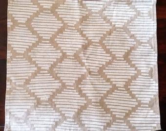 honeycomb. block printed linen napkins. set of two.