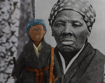Harriet Tubman Doll Miniature African American Black History Character