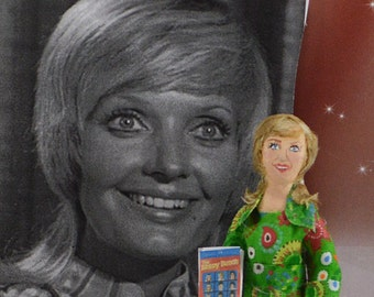 Florence Henderson Celebrity Doll Miniature TV Icon Actress Singer Handmade Art Character