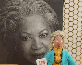 Toni Morrison Doll Miniature Size Black History Writer