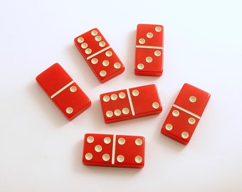 Vintage Dominoes Red