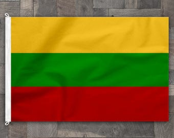 100% Cotton, Stitched Design, Flag of Lithuania, Made in USA