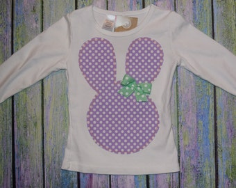 "Girls EAsTER ""PERFECT PASTELS"" collection BUNnY RABbIT  TEe made to order in  sizes  6 - 9 - 12 -18 -24 mth -2 -3 -4 -5 - 6 - 7 - 8 - 10"