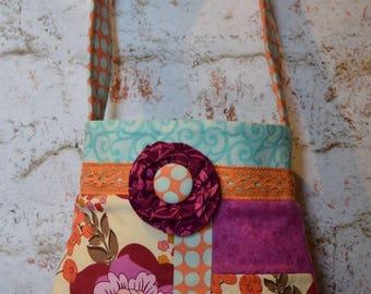 SAmPLE SaLE * Patchwork design Shoulder Bag in assorted prints OOAK Ready to ship