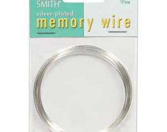 "Beadsmith Silver Plated Memory Wire 2 1/2"" Diameter, 12 Loop"