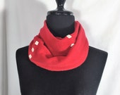 Infinity Cashmere Wool Scarf made from an upcycled red sweater