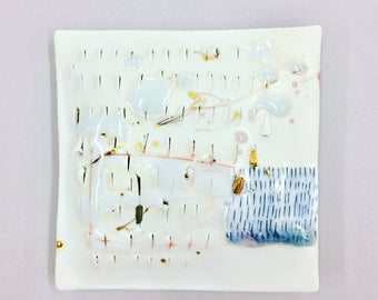 small abstract porcelain wall pillow