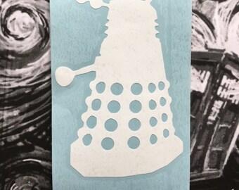 Doctor Who Inspired Dalek Car, Laptop, or Decor Vinyl Decal