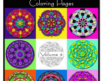 Mandala Coloring Book - VOLUME 3