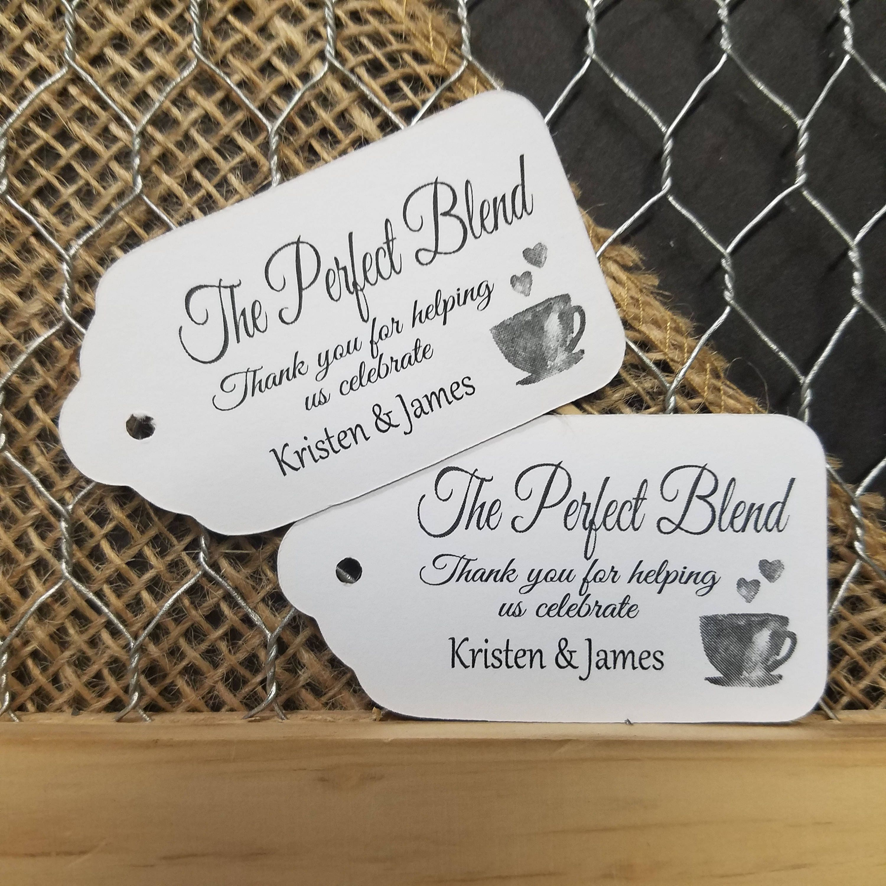 the perfect blend wedding favors - Wedding Decor Ideas
