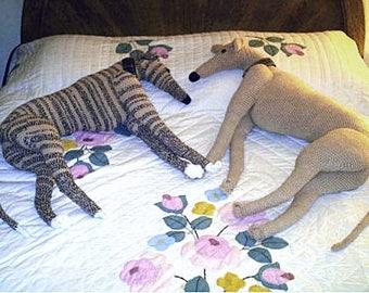 Aerie Design's Life-size Greyhound Crochet Pattern PDF Pattern Whippet Dog Galgo Stuffed Animal