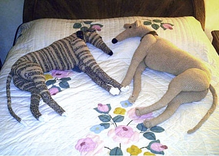 Aerie Designs Life-size Greyhound Crochet Pattern PDF Pattern Whippet Do...