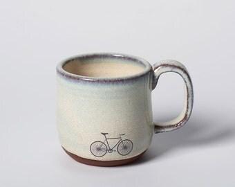 Small Ceramic Bike Cup Espresso Mug