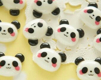 8 pcs Cute Kawaii Panda Face Cabochon (17mm21mm) DR429
