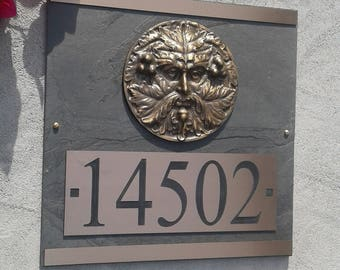 GREENMAN House Numbers Craftsman ADDRESS Plaque