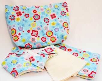 Doll Diaper Set - Floral Print