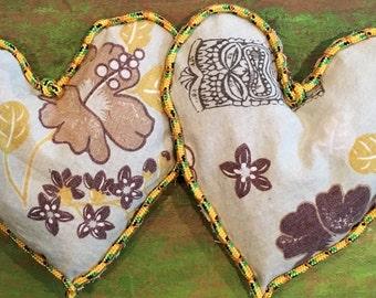 2 Hearts Hawaiian Troical Sun Baked Valentine Cedar Sachets