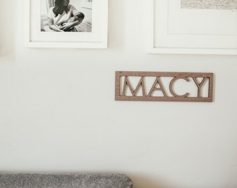 Personalized Name Sign Decor - Wall Art - Personalized Name Sign - Name Sign - Hanging Art - Nursery Wall Hanging - Wooden Baby Name -DE10