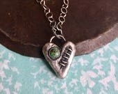 your mended heart talisman. turquoise