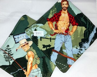 Hot Dishes - Outdoorsy Type - Lumberjack - Mountain Man - Pot Holders
