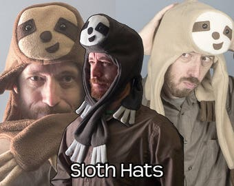 Handmade Fleece Sloth Hat