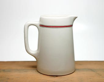 Vintage Grindley England DURALINE Hotelware Restaurant Pitcher - Vitrified - White Pitcher