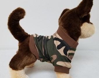 Dog Clothes Camo Tshirt, Chihuahua, Yorkie