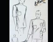 Vintage 40s Doctor Chef Dentist Barber Professional Jacket Sewing Pattern 2388 40