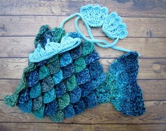Baby Mermaid Tail, Baby Mermaid Outfit, Mermaid Photography Prop, Baby Mermaid Costume, Newborn Mermaid Tail, Infant Mermaid Tail, Blue