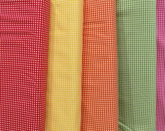 "Fabric 1/8"" Gingham Check Riley Blake One Yard - FREE Shipping USA only"