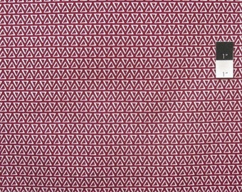 SALE Quilters Choice Stacked Triangles Burgundy Cotton Quilting Fabric By Yard