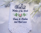 Reserved listing for Lisa C- Two Swiss Lace Handkerchiefs