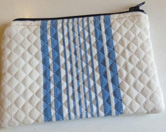 Coin purse - blue stripe