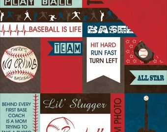 """Play Ball Double-Sided Cardstock Paper Moxxie 12""""X12"""""""