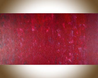 """Red Abstract art abstract painting original artwork painting on canvas large wall art wall Decor wall hanging """"Passionate"""" by qiqigallery"""