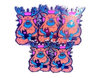 BULK DEAL! limited Spirit Deer neon color remix hatpin bulk 5-pack