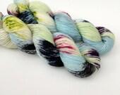 UMBRELLA - Hand Dyed Yarn - Sparkle Sock Yarn Fingering - Ready to Ship - Vivid Yarn Studio