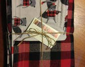 RESERVED* FOR KAY: baby blanket/swaddle in Robert Kaufman hipster lumber jack Beavers/plaid