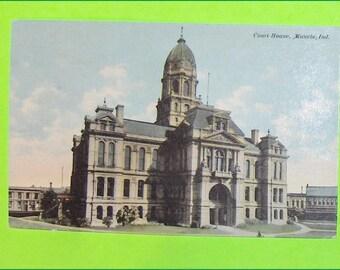 Vintage Postcard Court House Muncie Indiana United States