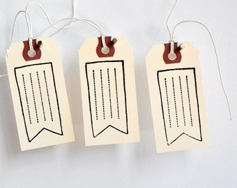 Vintage Flag Tags {10} | Pennant Flag Tags | Fun Flag Tags | Shipping Tags | Manila Tags | Parcel Tags | Stamped Tags | SALE
