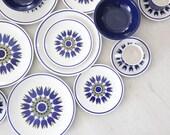 r e s e r v e d Blue Indigo Japanese Premier Colorama 'Aladin' Tulip Dish & Cup Set - 20 pc  (Service for 4)