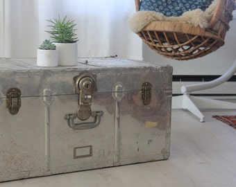 Vintage Aluminium Polished Trunk