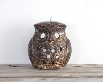 Ceramic Hanging Owl Lantern